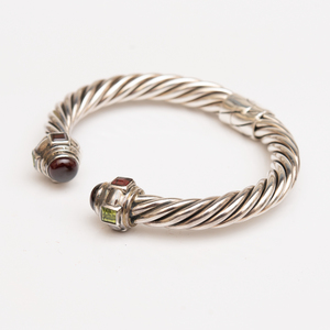 Sterling Silver and Semiprecious Stone Cuff