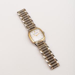 David Yurman Sterling Silver and 14k Gold Wristwatch