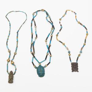 Three Beaded Pendant Necklaces