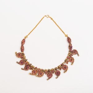 Indian Gold and Ruby Necklace