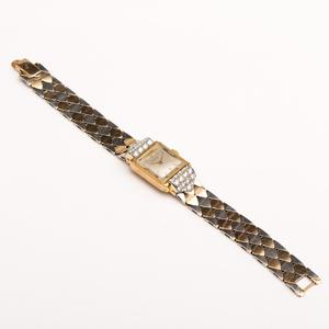 Juvenia 14k Yellow and White Gold Diamond Ladies Wristwatch