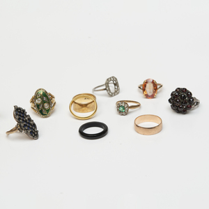 Miscellaneous Group of Ten Rings