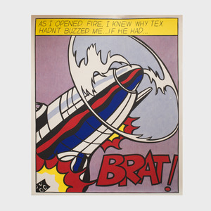 After Roy Lichtenstein (1923-1997): As I Opened Fire