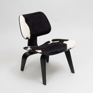 Charles and Ray Eames Calf Skin and Ebonized Lounge Chair, for the Vitra Design Museum