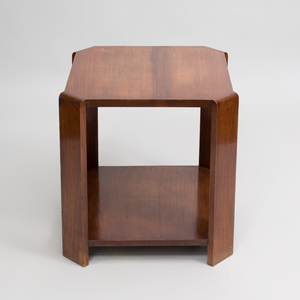 French Art Moderne Mahogany Side Table