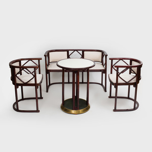 Suite of Josef Hoffmann Stained Wood Seat Furniture