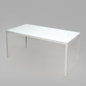 Jean Nouvel White Painted Metal and Glass Dining Table
