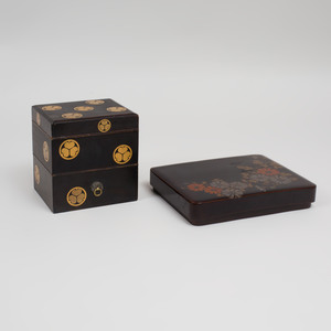 Two Japanese Lacquer Boxes