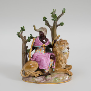 Meissen Porcelain Group Emblematic of Africa