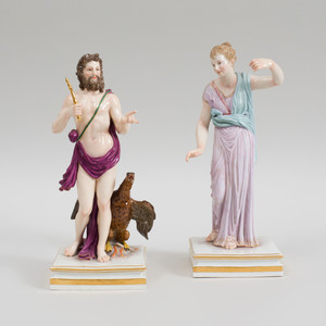 Two Meissen Porcelain Classical Figures