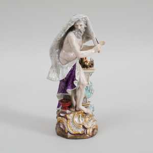 Meissen Porcelain Figure Emblematic of Winter