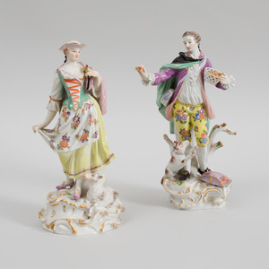 Pair of Meissen Porcelain Figures of a Gardener and Companion