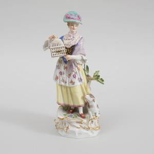 Meissen Porcelain Figure of a Shepherdess