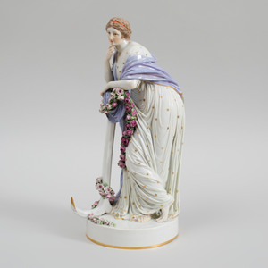 Meissen Porcelain Figure Emblematic of Hope