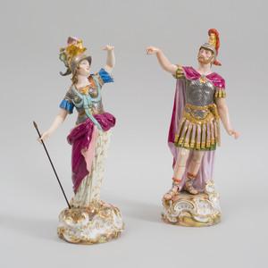 Pair of Meissen Porcelain Figures of Roman Soldiers