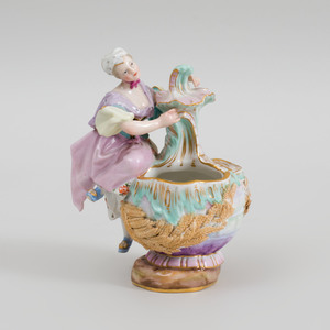 Meissen Porcelain Figural Vessel Molded with Wheat