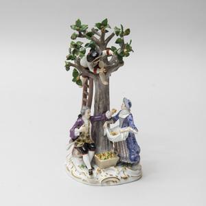 Meissen Porcelain Figure Group of an Apple Harvest