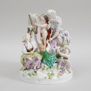 Meissen Porcelain Figure Group Libesschule