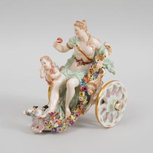 Meissen Porcelain Mythological Group of Venus and Cupid