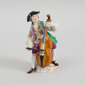 Meissen Porcelain Figure of a Cellist