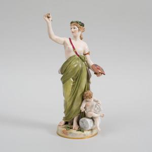 Meissen Porcelain Figure Emblematic of Art