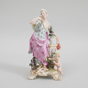 Meissen Porcelain Figure Emblematic of Smell