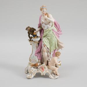 Meissen Porcelain Figure Emblematic of Taste