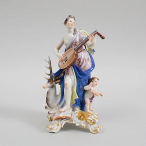 Meissen Porcelain Figure Emblematic of Sound
