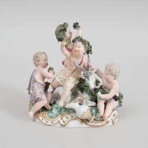 Meissen Porcelain Bacchanale Putti Group