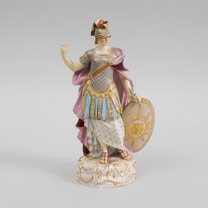 Meissen Porcelain Figure of Minerva