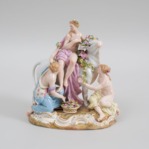 Meissen Porcelain Figure Group of Europa and the Bull