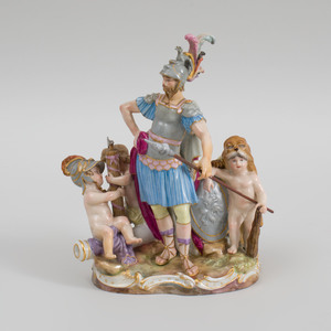 Meissen Porcelain Figure Group of Mars