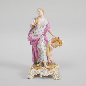 Meissen Porcelain Figure Emblematic of Autumn