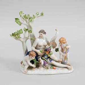 Meissen Porcelain Figure Group Emblematic of Plenty