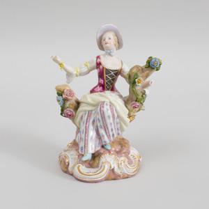 Meissen Porcelain Figure of Maiden