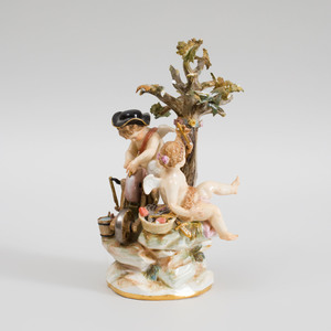 Meissen Porcelain Putti Group of The Arrow Maker and His Assistant