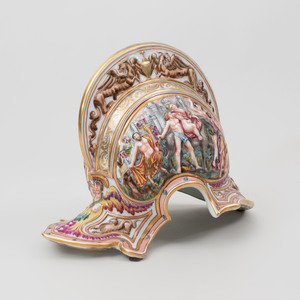Capodimonte Porcelain Model of Roman Helmet