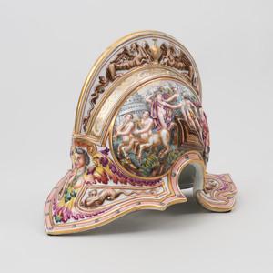 Capodimonte Porcelain Model of Roman Helmet