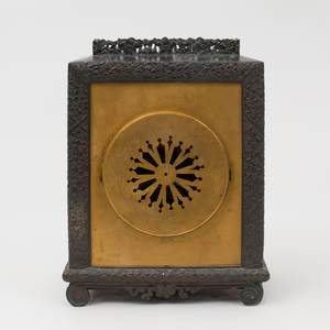 Aesthetic Movement Bronze and Gilt-Metal Bracket Clock