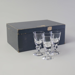 Set of Twelve Steuben Glass Sherries