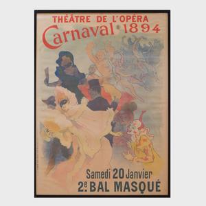 Jules Chéret (1836-1932): Théatre de L'Opéra Carnaval 1894