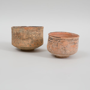 Two Stain Decorated Terracotta Bowls