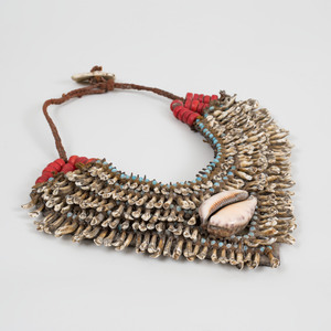 Tribal Animal Teeth, Cowrie Shell and Beaded Currency Necklace, possibly Papua New Guinea