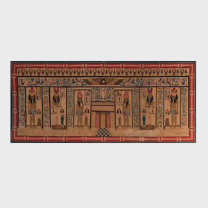 Two Egyptian Cotton Grand Tour Tapestries
