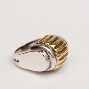 Caviar Sterling Silver and 18k Gold Ring