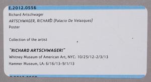Richard Artschwager (1923-2013) Palacio de Velázquez