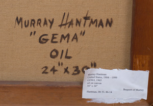 Murray Hantman (1904-1999): Gema