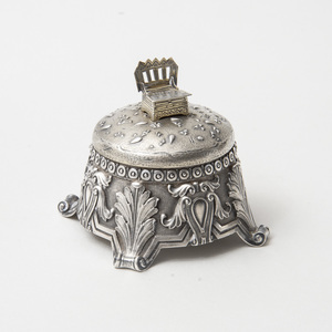Russian Silver Box and Cover with Salt Chair Finial