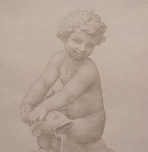 Alphonse Legros (1837 - 1911): Study for a Fountain