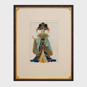 Heidi Schick: Japanese Priestess; Lady in a Kimono; and Lady in a Pink Kimono